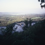 The Upper Mississippi from Mount Hosmer in Lansing, Ia. I can still hike—well maybe walk-- the 450 feet  to the top of the bluff.