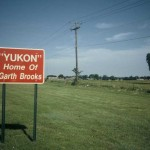 The man with the hat from Yukon, Oklahoma. I bet the sign is bigger today.
