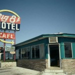El Reno, Okla.--Parts of the Dustin Hoffman movie Rain Man filmed in Room 117 of this fleabag motel. Note the Amarillo sign. That was installed for the movie and was never removed.