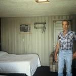 El Reno, Okla.--Same motel. This guy showed me to my room. Yikes!