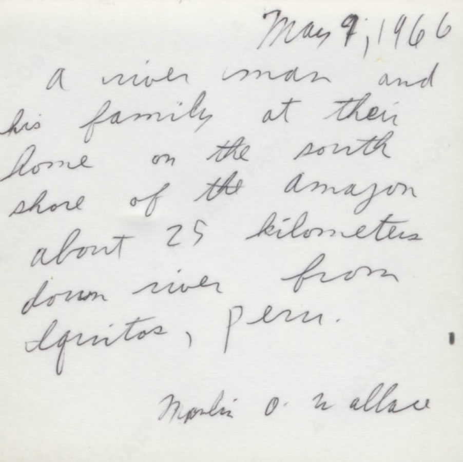 Marlin's notes on the family (right)