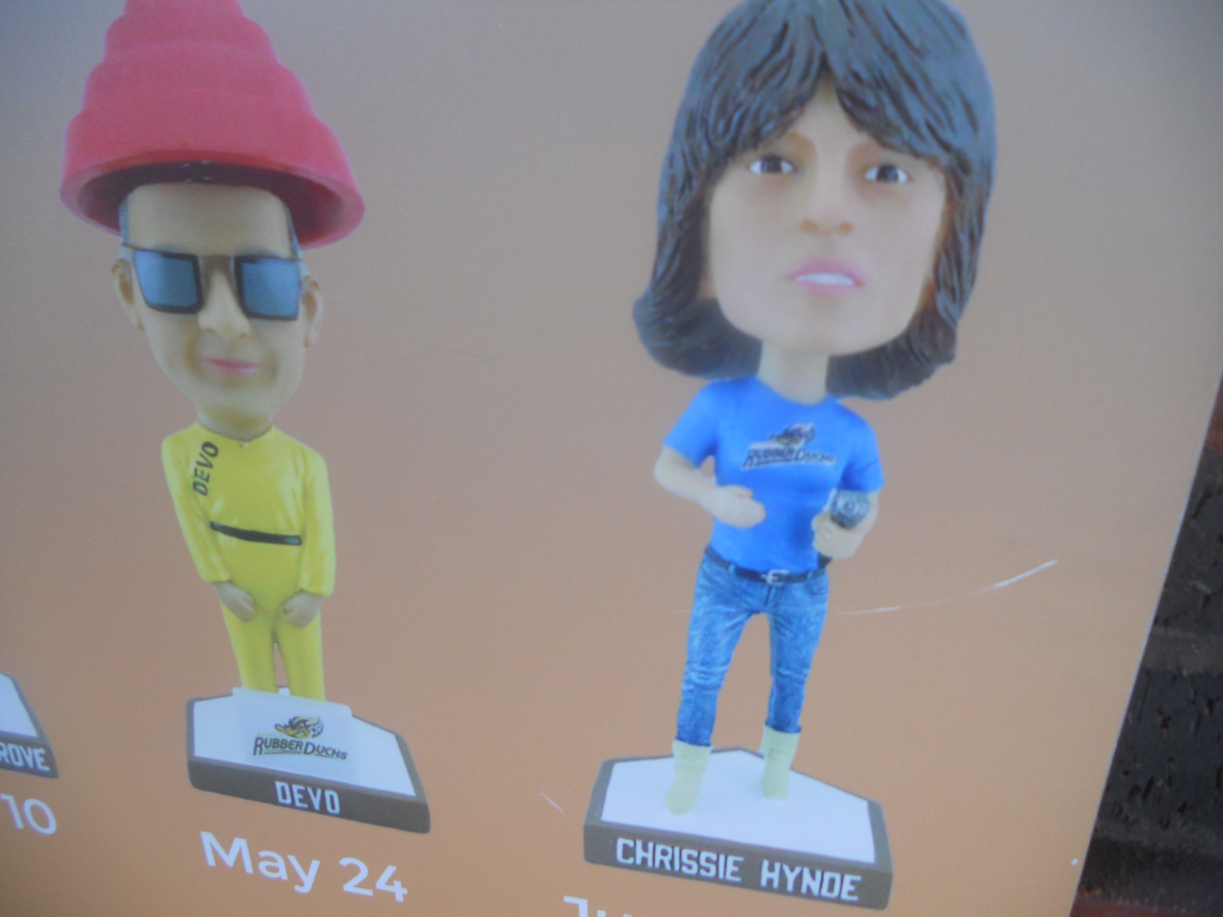 Akron Rock n' Roll Bobble Head giveaways.