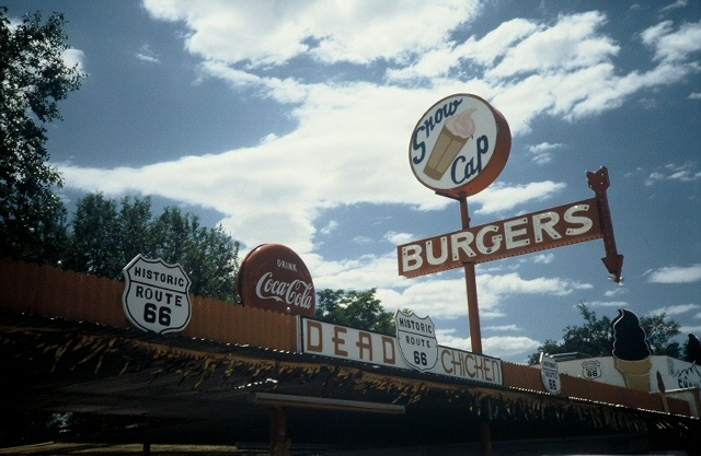 Route 66, Seligman, Az. 1991 (Photo by Dave Hoekstra)