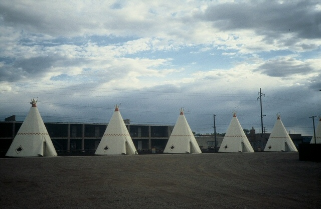 Sleep in a wigwam; Route 66 California, 1991 (Dave Hoekstra photo)