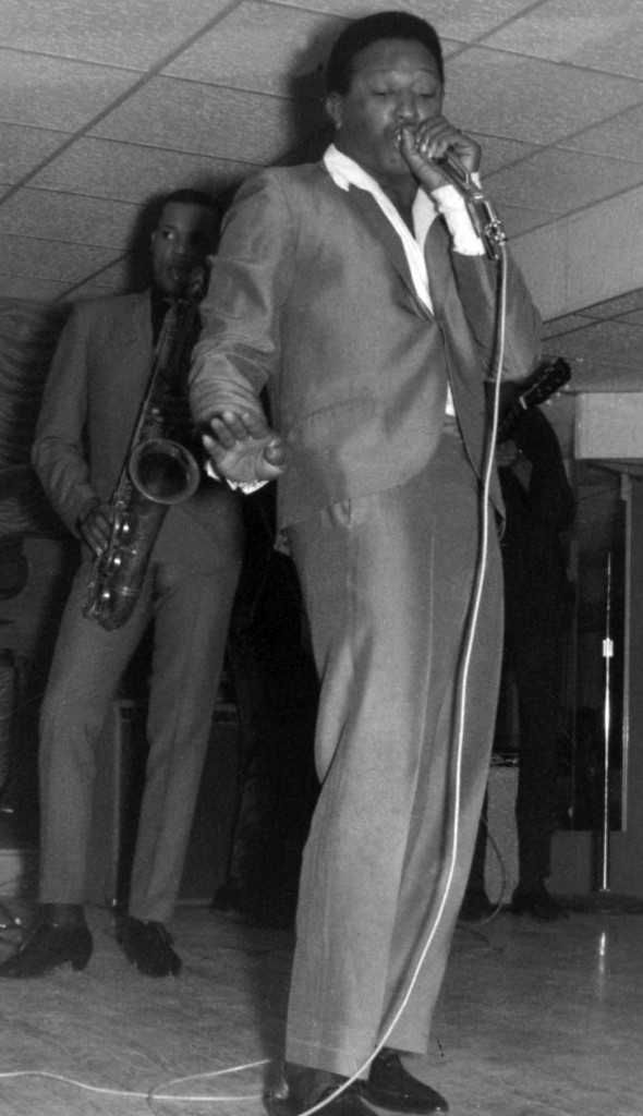 L.C. Cooke fronting his group the Upsetters circa 1966 in a mid-south club.