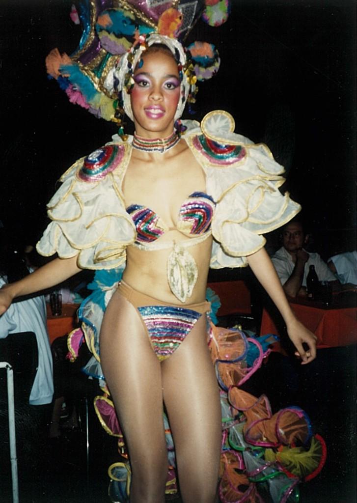 Tropicana show girl, 1989  (Dave Hoekstra photo)