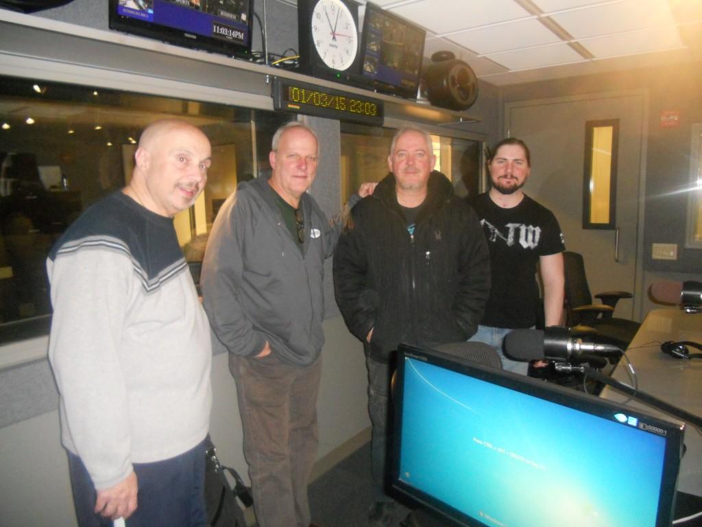 The Four Hoarsemen: (L to R), Nick Russo, Dave Hoekstra. Jon Langford, Dan Long