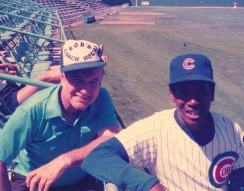 Bob Brower and Ernie Banks  (Courtesy of Irene Brower)