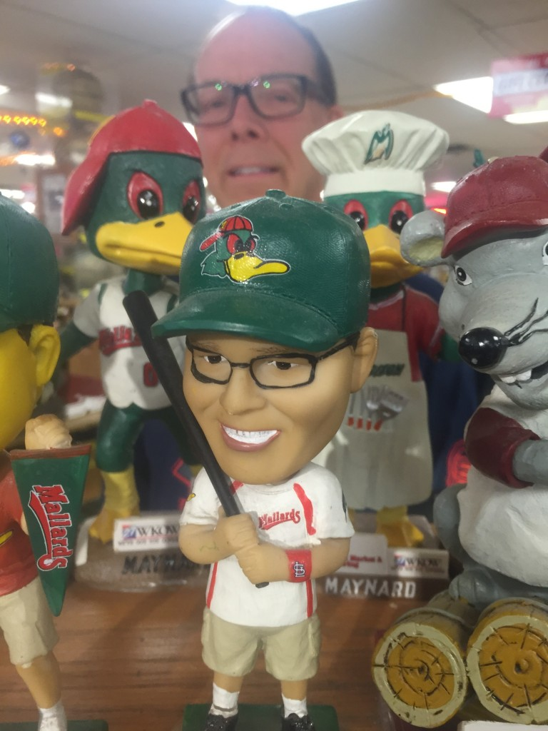 Steve Schmitt and his own bobblehead giveaway.