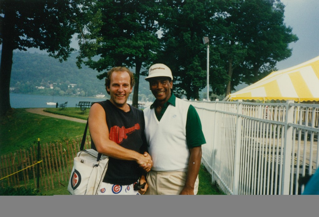 Me and Ernie at Billy Williams Hall of Fame Induction, 1987. No dress code.