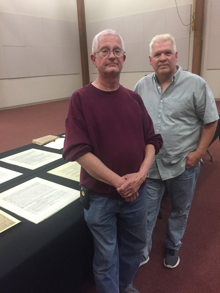 Jerry Stauffer (L) and Ken Foss (D. Hoekstra photo)