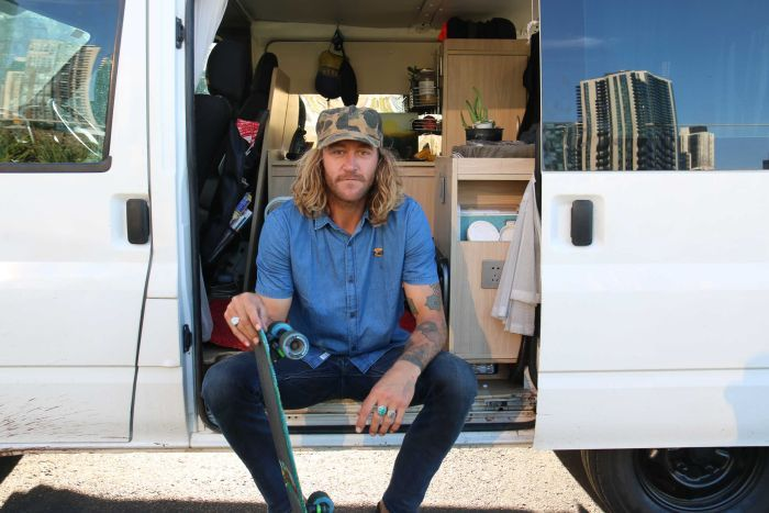 Outstanding looking man with a van.