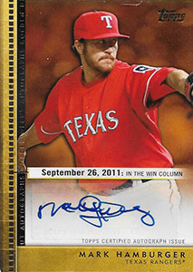 Mark Hamburger big league baseball card.