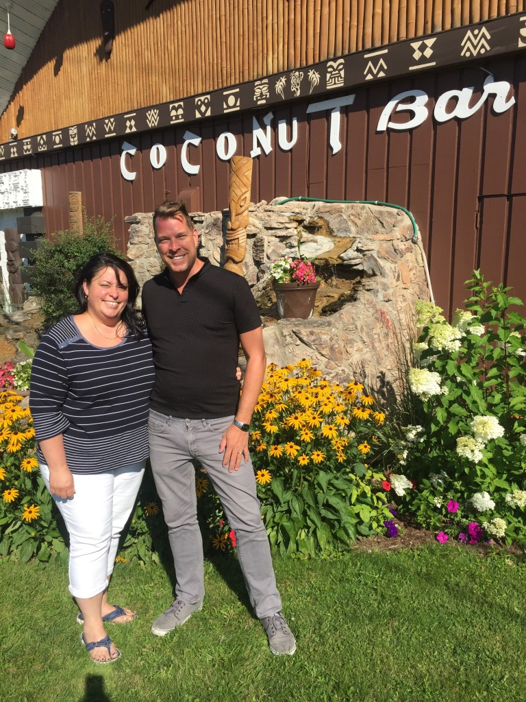 Owner Valerie Boisvert and hotel-motel manager David Duhaine.